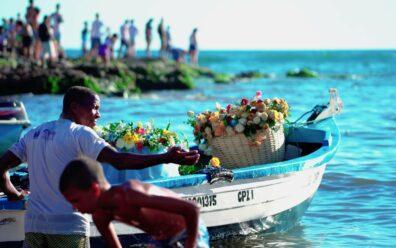 Frame do documentário Festa de Iemanjá