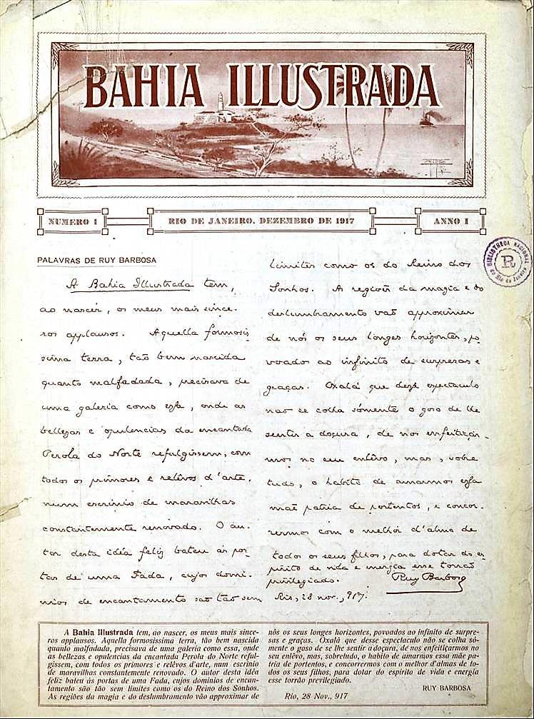primeira página da revista Bahia Ilustrada